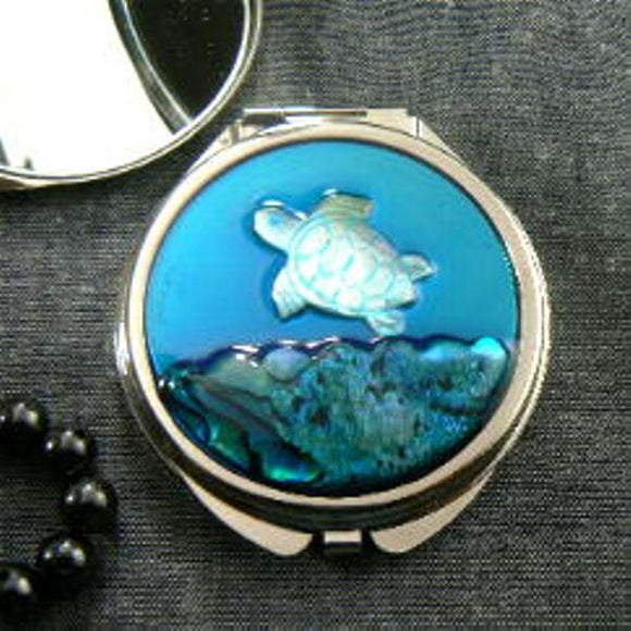 Turtle Mother of Pearl Compact