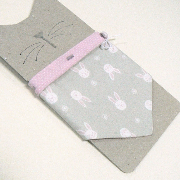 White Bunny Faces Cat Bandana