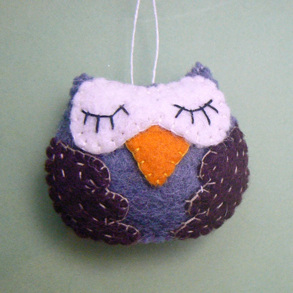 Wool Felt Owl Ornament