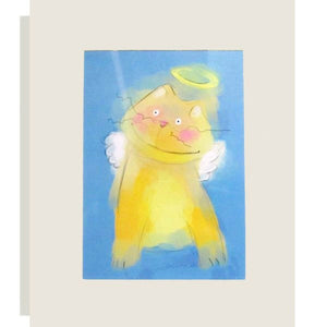 Kitty Cat Angel Matted Print