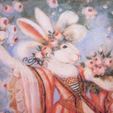White Rabbit in Gown with Spring Flowers Print 3