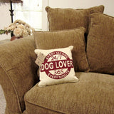 "Dog Lover Every Second Tapestry Pillow 12"" x 12"""