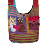 Two Cats Patch Hobo Bag #2