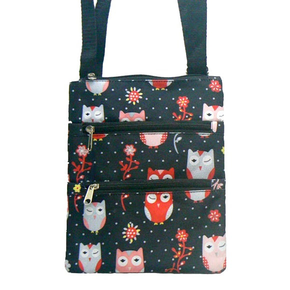 Owl Small Nylon Messenger Bag Purse