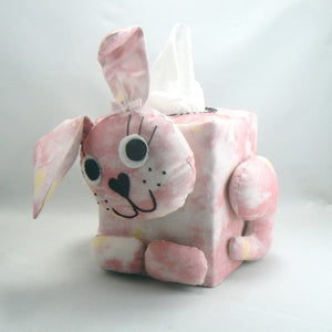 Rabbit Tissue Box Cover - Pink