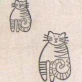 Whimsical Cats Woven Vest - Cream