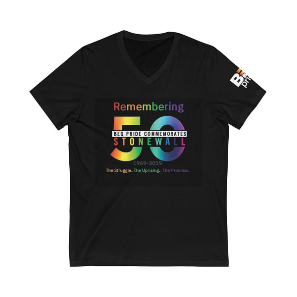 BEQ Pride Commemorative Shirt Unisex Jersey Short Sleeve V-Neck Tee