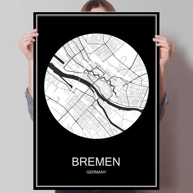 Black Bremen Canvas Print