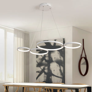 Abstract Round LED Chandelier