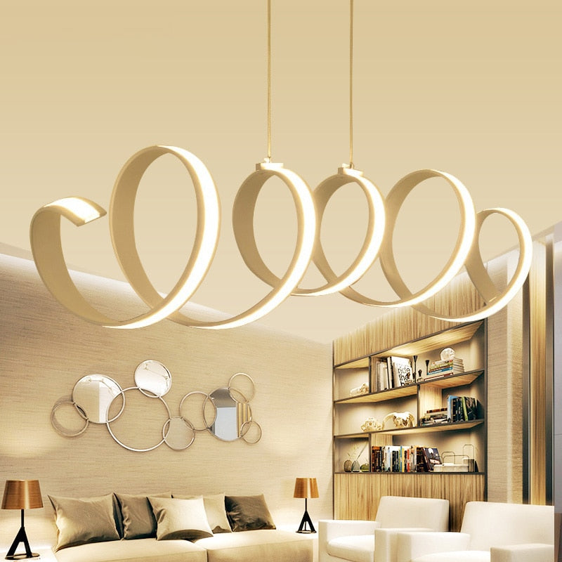 Spiral LED Pendant Light