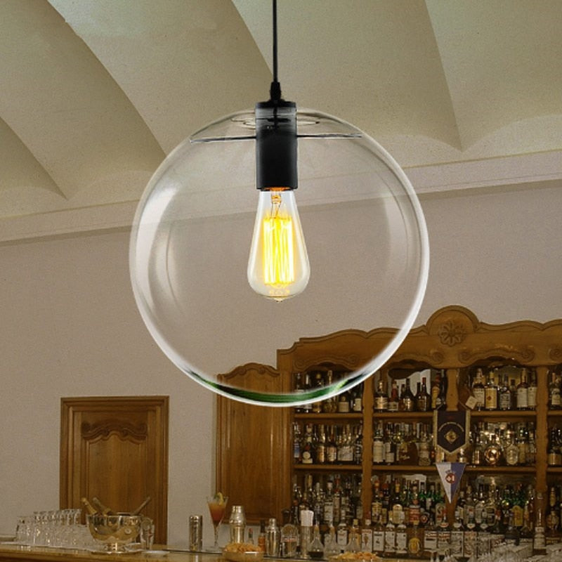 Hanging Glass Globe Light