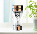 Transparent and portable self-stirring Mug