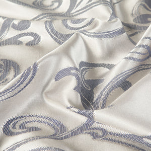 Luxury Silver Jacquard Bedding Set