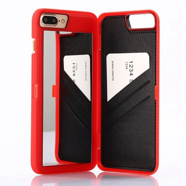 iPhone Wallet Case with Mirror