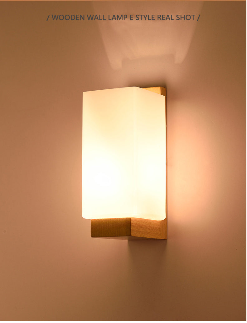 Wooden Wall Light