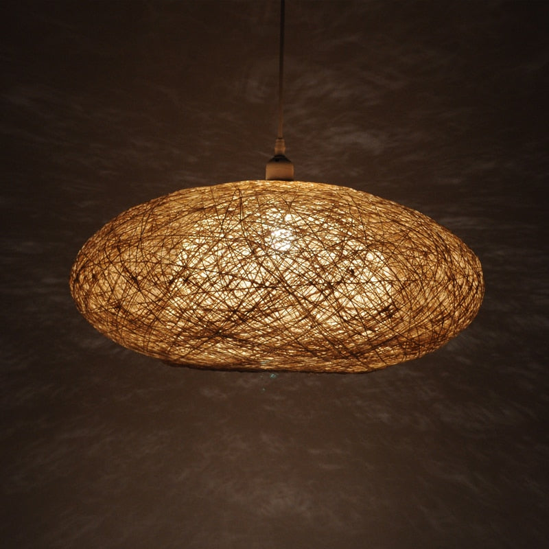 Modern Rattan Hanging Light