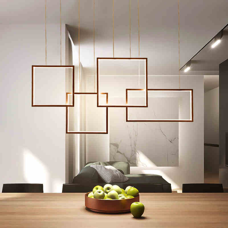 Modern Square Dining Room Chandelier