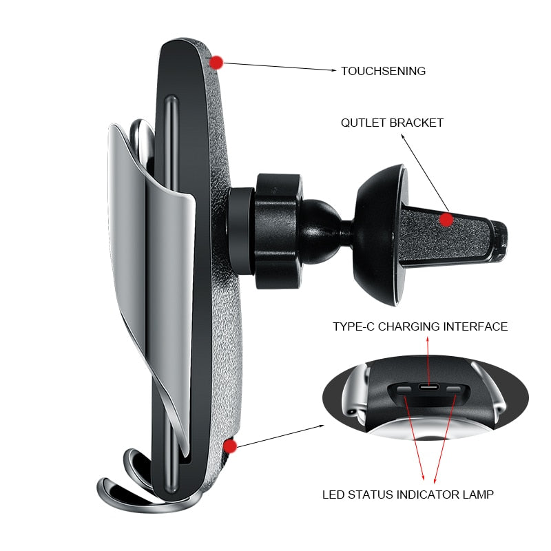 Automatic Clamping Wireless Car Charger