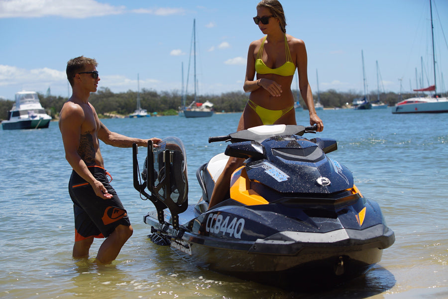 waterski rack for jet ski, carry your boards on a jet ski