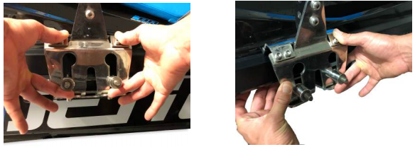 how to hold and position clamp for jet ski board rack