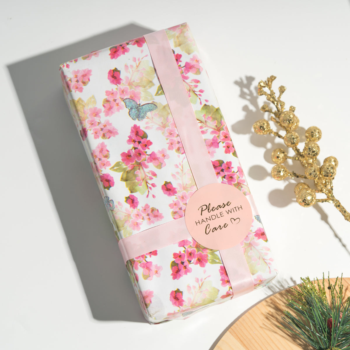 Wrapaholic-3 Different-Floral- and-Butterfly-Design-Wrapping-Paper -Roll-(14.4 sq. ft.TTL.)-8