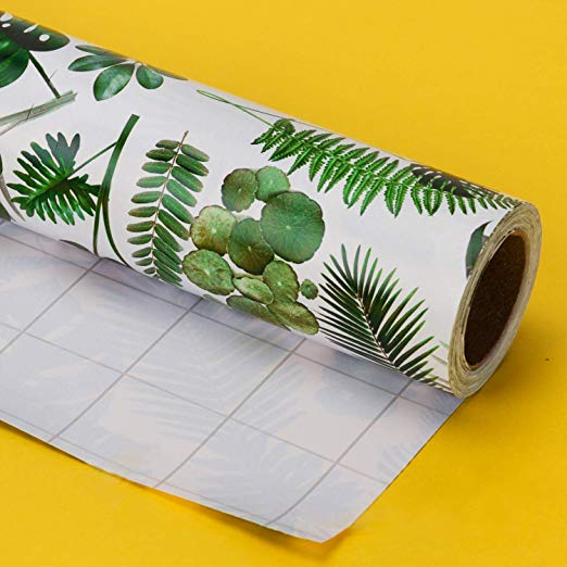 Wrapaholic-Spring-Flower-Wrapping-Paper-Roll-Banana-Leaf