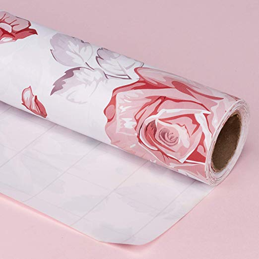 Wrapaholic-Spring-Flower-Wrapping-Paper-Roll-Painting-Rose