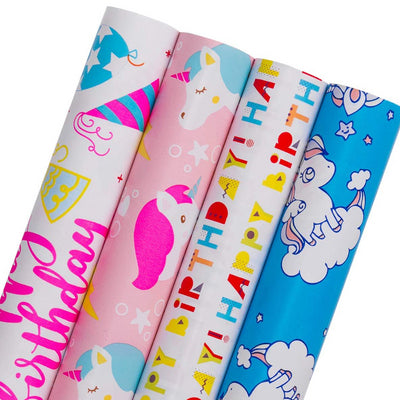 Wrapaholic-Happy-Birthday-Gift-Wrapping-Paper-Roll-4 Rolls-Set-m