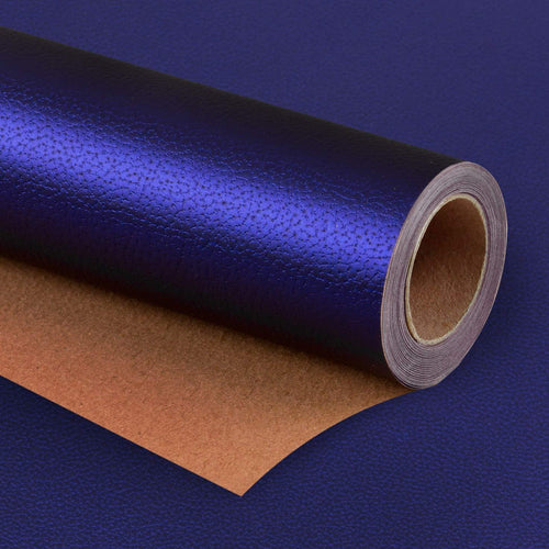 Wrapaholic-Matte-Navy-Gift-Wrapping-Paper- Navy-Blue-Lychee-Leather-Grain-m