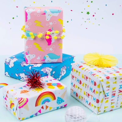 Wrapaholic-Happy-Birthday-Gift-Wrapping-Paper-Roll-4 Rolls-Set-3