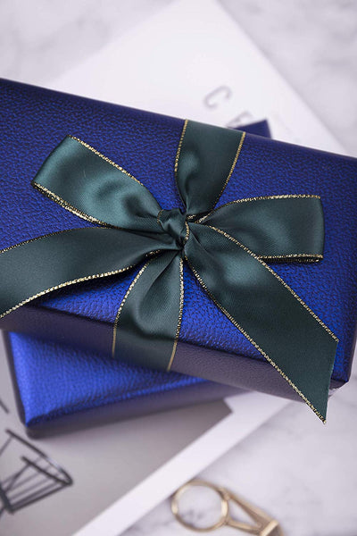 Wrapaholic-Matte-Navy-Gift-Wrapping-Paper- Navy-Blue-Lychee-Leather-Grain-4