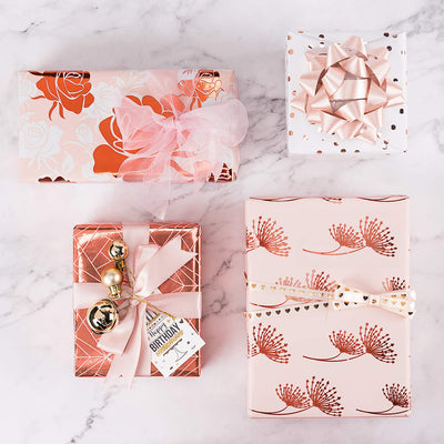 WRAPAHOLIC-Rose-Gold-Foil-Gift-Wrapping-Paper-Roll-4-Rolls-Set-7