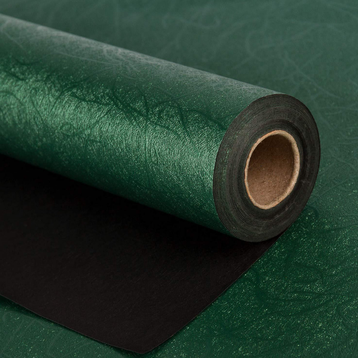 WRAPAHOLIC-Jewelry-Green-Gift-Wrapping-Paper-Dark-Green-Silking-Grain-1
