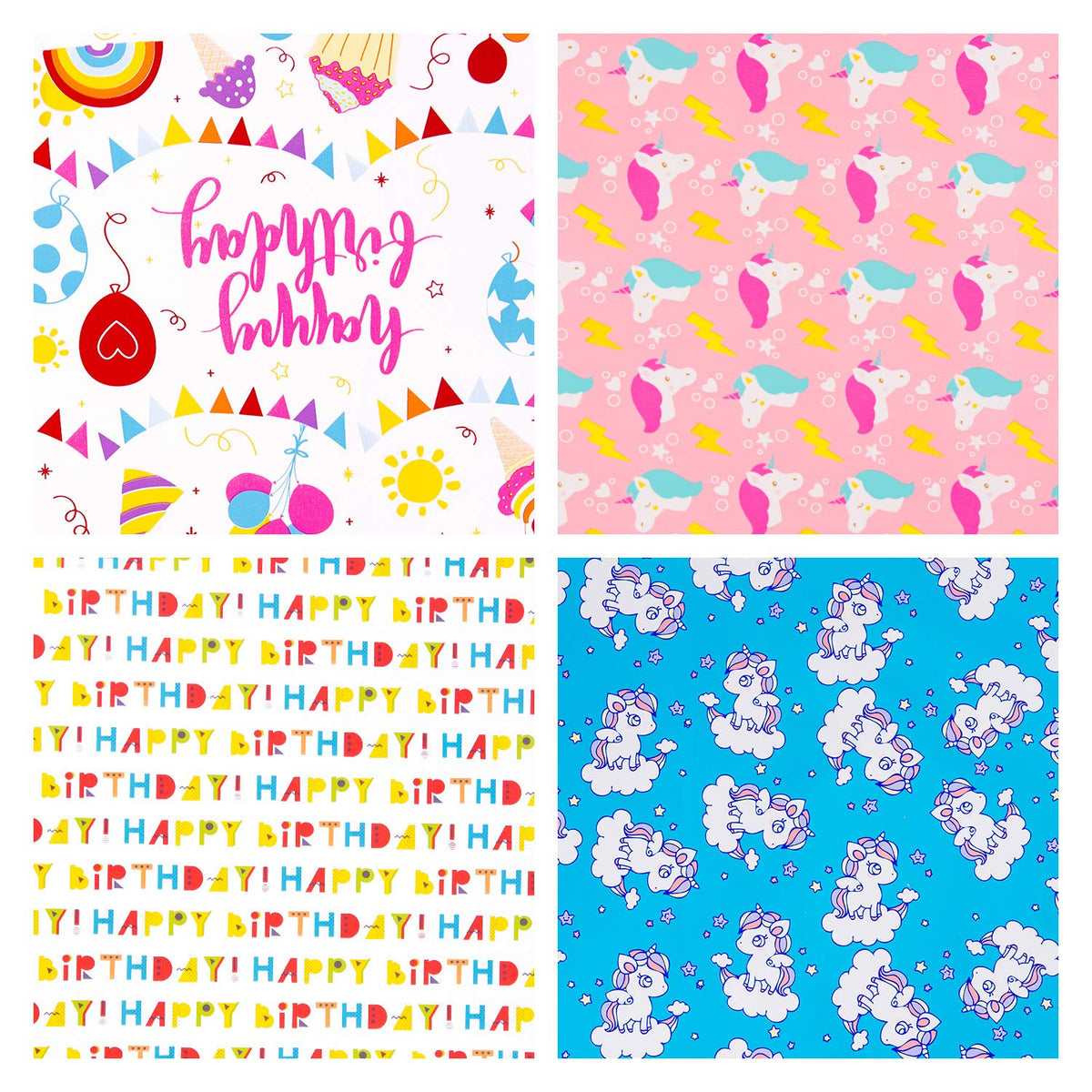 Wrapaholic-Happy-Birthday-Gift-Wrapping-Paper-Roll-4 Rolls-Set-1