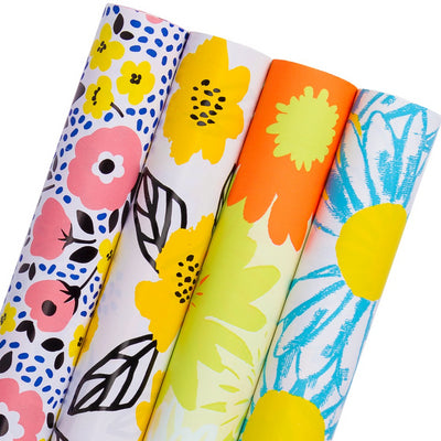 Wrapaholic-Fluorescent-Flowers-Gift-Wrapping-Paper-Roll-4-Rolls-Set-m