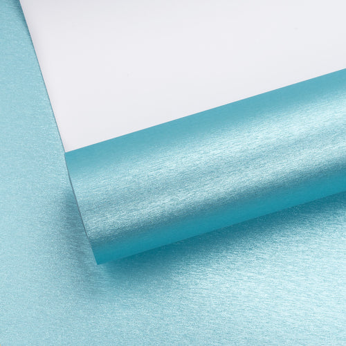Wrapaholic-Metallic-Brush-Wrapping-Paper-Roll-Blue