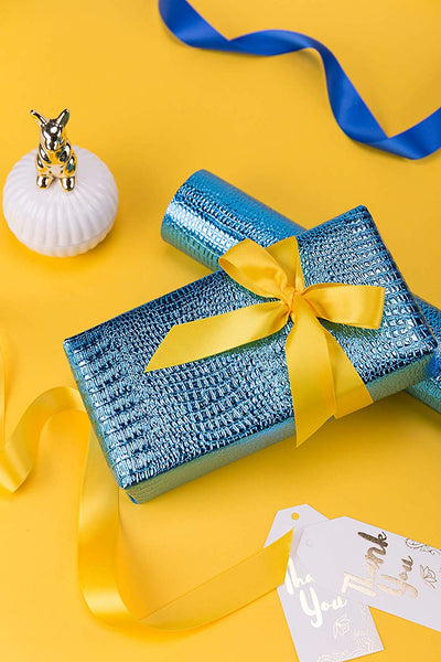 Wrapaholic-Metalic-Gift-Wrapping-Paper-Royal-Blue-Snakeskin-Grain-3