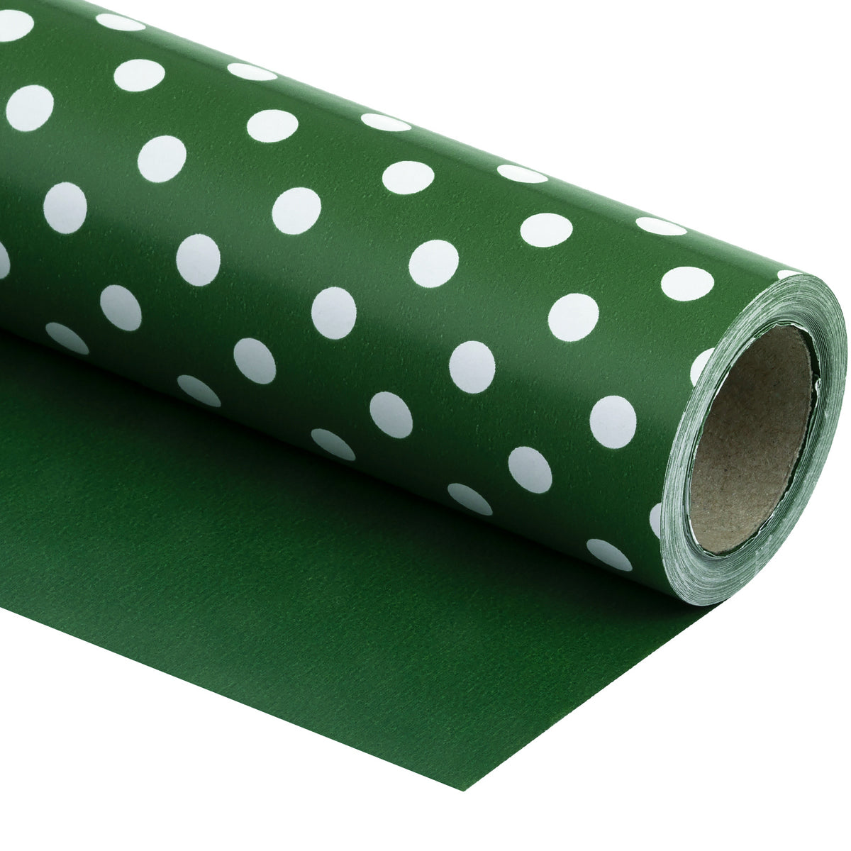 "Dots-Gift-Wrapping- Paper-Reversible- Dark-Green-30"" x33 feet-Continue-Roll-1"