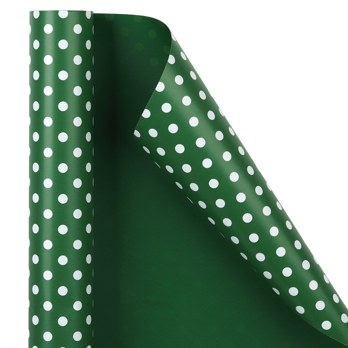 "Dots-Gift-Wrapping- Paper-Reversible- Dark-Green-30"" x33 feet-Continue-Roll-2"