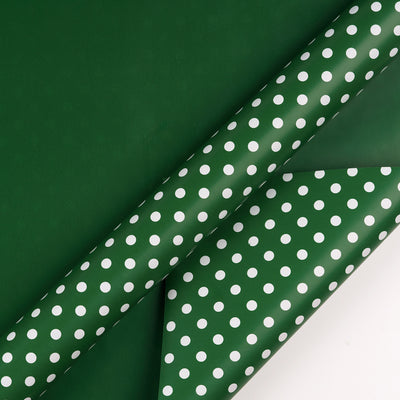 "Dots-Gift-Wrapping- Paper-Reversible- Dark-Green-30"" x33 feet-Continue-Roll-3"
