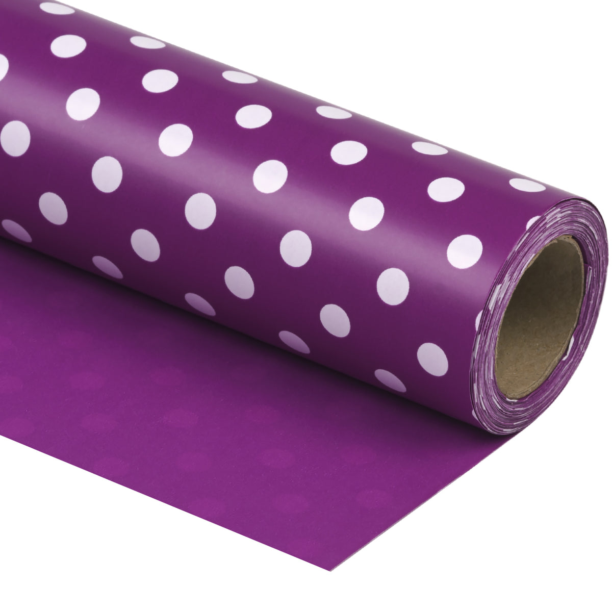 "Dots-Gift- Wrapping-Paper-Reversible-Purple-30"" x33 feet-Continue-Roll-1"