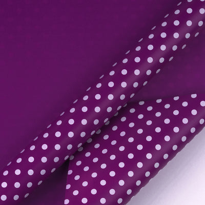 "Dots-Gift- Wrapping-Paper-Reversible-Purple-30"" x33 feet-Continue-Roll-2"