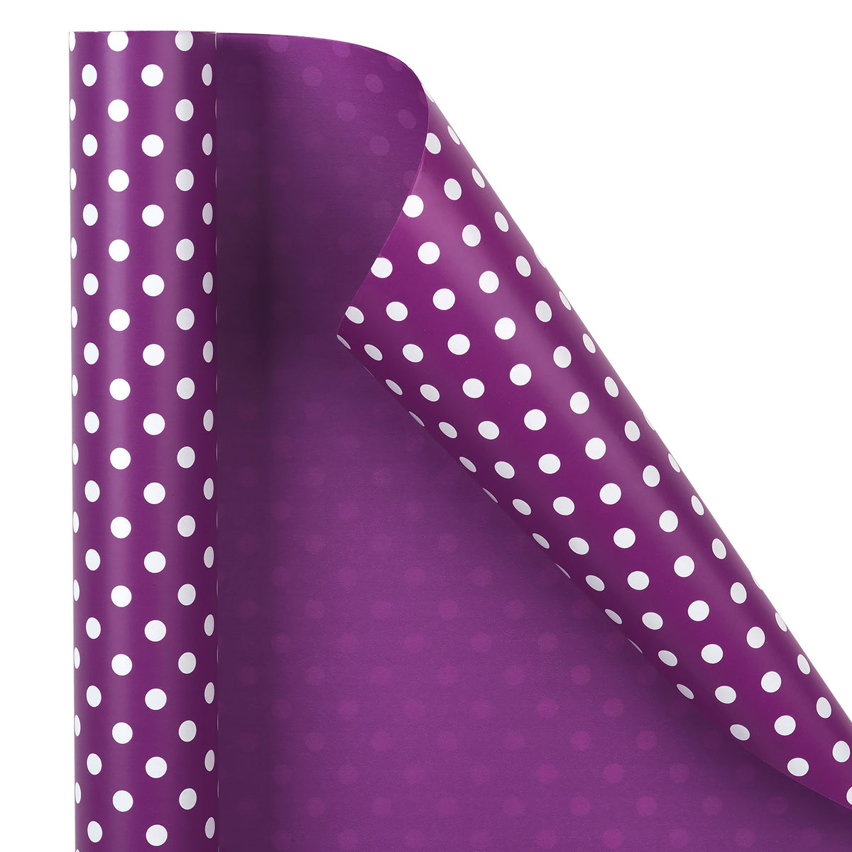 "Dots-Gift- Wrapping-Paper-Reversible-Purple-30"" x33 feet-Continue-Roll-3"