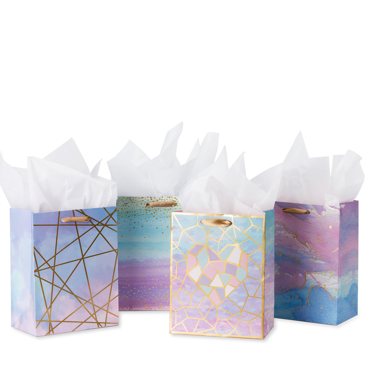 Loveinside-Medium-Size -Coloful-Marble-Pattern-Gift-Bag -7 X 4 X 9-1