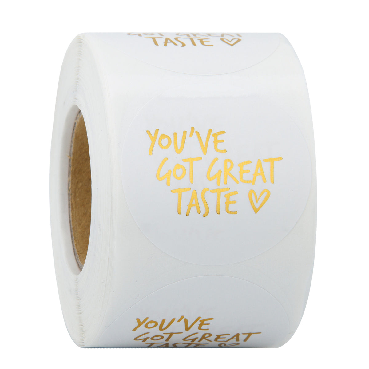 Wrapaholic You've Got Great Taste Stickers - Gold Foil Business Thank You Stickers, Shipping Stickers - 2 x 2 Inch 500 Total Labels