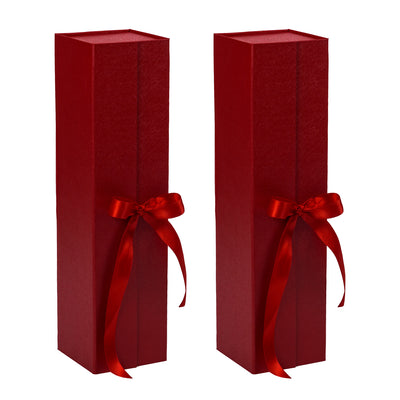 Wrapaholic-2Pcs-Red-Gift- Box-with-Satin-Ribbon-Gift-Boxes-with-Magnetic-Closure-2