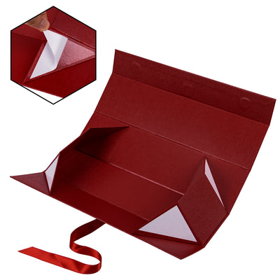 Wrapaholic-2Pcs-Red-Gift- Box-with-Satin-Ribbon-Gift-Boxes-with-Magnetic-Closure-3