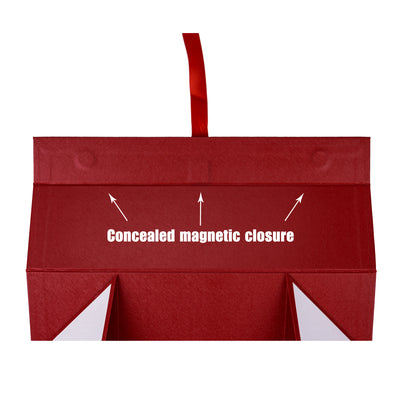 Wrapaholic-2Pcs-Red-Gift- Box-with-Satin-Ribbon-Gift-Boxes-with-Magnetic-Closure-5