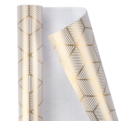 Wrapaholic-3-Different-Gold- and-White-Set- Wrapping- Paper-Roll-(14.4 sq. ft.TTL.)-2