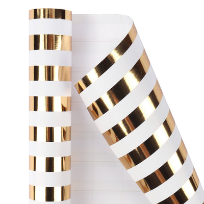 Wrapaholic-3-Different-Gold- and-White-Set- Wrapping- Paper-Roll-(14.4 sq. ft.TTL.)-3